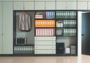 Комбинированный офисный шкаф