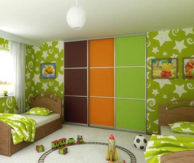 Цветной шкаф-купе